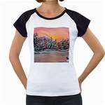 Jane s Winter Sunset -AveHurley ArtRevu.com- Women s Cap Sleeve T