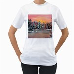 Jane s Winter Sunset -AveHurley ArtRevu.com- Women s T-Shirt (White) (Two Sided)