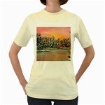 Jane s Winter Sunset -AveHurley ArtRevu.com- Women s Yellow T-Shirt