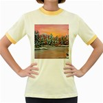 Jane s Winter Sunset -AveHurley ArtRevu.com- Women s Fitted Ringer T-Shirt