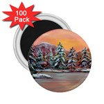 Jane s Winter Sunset -AveHurley ArtRevu.com- 2.25  Magnet (100 pack)