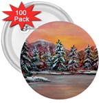 Jane s Winter Sunset -AveHurley ArtRevu.com- 3  Button (100 pack)