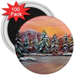 Jane s Winter Sunset -AveHurley ArtRevu.com- 3  Magnet (100 pack)