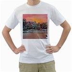 Jane s Winter Sunset -AveHurley ArtRevu.com- Men s T-Shirt (White) (Two Sided)