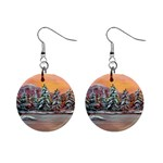 Jane s Winter Sunset -AveHurley ArtRevu.com- 1  Button Earrings