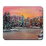 Jane s Winter Sunset -AveHurley ArtRevu.com- Large Mousepad