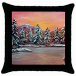 Jane s Winter Sunset -AveHurley ArtRevu.com- Throw Pillow Case (Black)