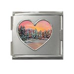 Jane s Winter Sunset -AveHurley ArtRevu.com- Mega Link Heart Italian Charm (18mm)