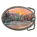 Jane s Winter Sunset -AveHurley ArtRevu.com- Belt Buckle