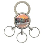 Jane s Winter Sunset -AveHurley ArtRevu.com- 3-Ring Key Chain
