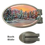 Jane s Winter Sunset -AveHurley ArtRevu.com- Money Clip (Oval)