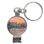 Jane s Winter Sunset -AveHurley ArtRevu.com- Nail Clippers Key Chain
