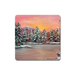 Jane s Winter Sunset -AveHurley ArtRevu.com- Magnet (Square)