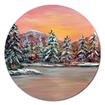 Jane s Winter Sunset -AveHurley ArtRevu.com- Magnet 5  (Round)