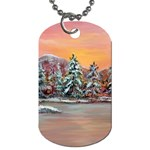 Jane s Winter Sunset -AveHurley ArtRevu.com- Dog Tag (One Side)