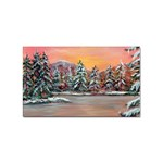 Jane s Winter Sunset -AveHurley ArtRevu.com- Sticker Rectangular (100 pack)