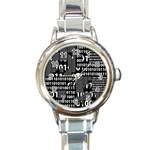 Beauty of Binary Round Italian Charm Watch