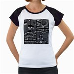Beauty of Binary Women s Cap Sleeve T-Shirt (White)