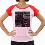 Beauty of Binary Women s Cap Sleeve T-Shirt (Colored)