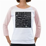 Beauty of Binary Women s Long Cap Sleeve T-Shirt (White)