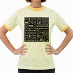 Beauty of Binary Women s Ringer T-shirt (Colored)