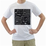 Beauty of Binary Men s Two-sided T-shirt (White)