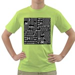 Beauty of Binary Men s T-shirt (Green)