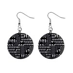 Beauty of Binary Mini Button Earrings