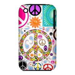 Peace Collage Apple Iphone 3g/3gs Hardshell Case (pc+silicone) by StuffOrSomething