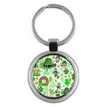 St Patrick s Day Collage Key Chain (Round)