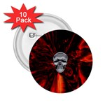 Skeleton in Blood Bath 2.25  Button (10 pack)