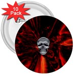 Skeleton in Blood Bath 3  Button (10 pack)