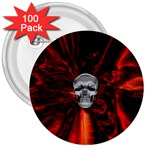 Skeleton in Blood Bath 3  Button (100 pack)
