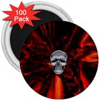 Skeleton in Blood Bath 3  Magnet (100 pack)