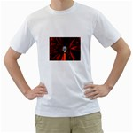 Skeleton in Blood Bath White T-Shirt