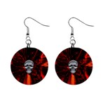 Skeleton in Blood Bath 1  Button Earrings