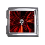 Skeleton in Blood Bath Mega Link Italian Charm (18mm)