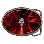 Skeleton in Blood Bath Belt Buckle