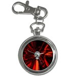 Skeleton in Blood Bath Key Chain Watch