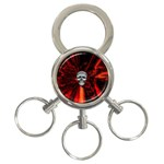 Skeleton in Blood Bath 3-Ring Key Chain