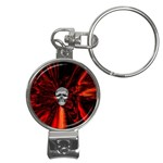 Skeleton in Blood Bath Nail Clippers Key Chain