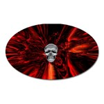 Skeleton in Blood Bath Magnet (Oval)