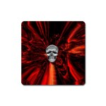 Skeleton in Blood Bath Magnet (Square)