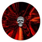 Skeleton in Blood Bath Magnet 5  (Round)