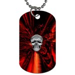 Skeleton in Blood Bath Dog Tag (One Side)