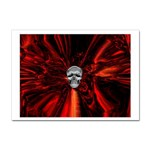 Skeleton in Blood Bath Sticker A4 (10 pack)