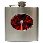 Skeleton in Blood Bath Hip Flask (6 oz)