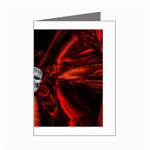 Skeleton in Blood Bath Mini Greeting Card