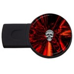 Skeleton in Blood Bath USB Flash Drive Round (1 GB)