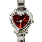 Skeleton in Blood Bath Heart Italian Charm Watch